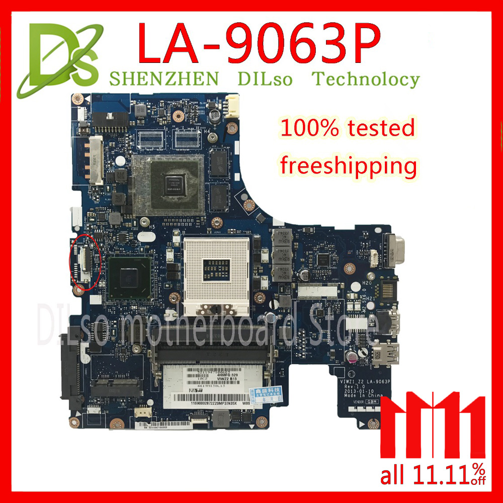 KEFU LA-9063P For Lenovo Z500 laptop motherboard VIWZ1-Z2 LA-9063P Z500 PM original motherboard 100% Test work viwz1