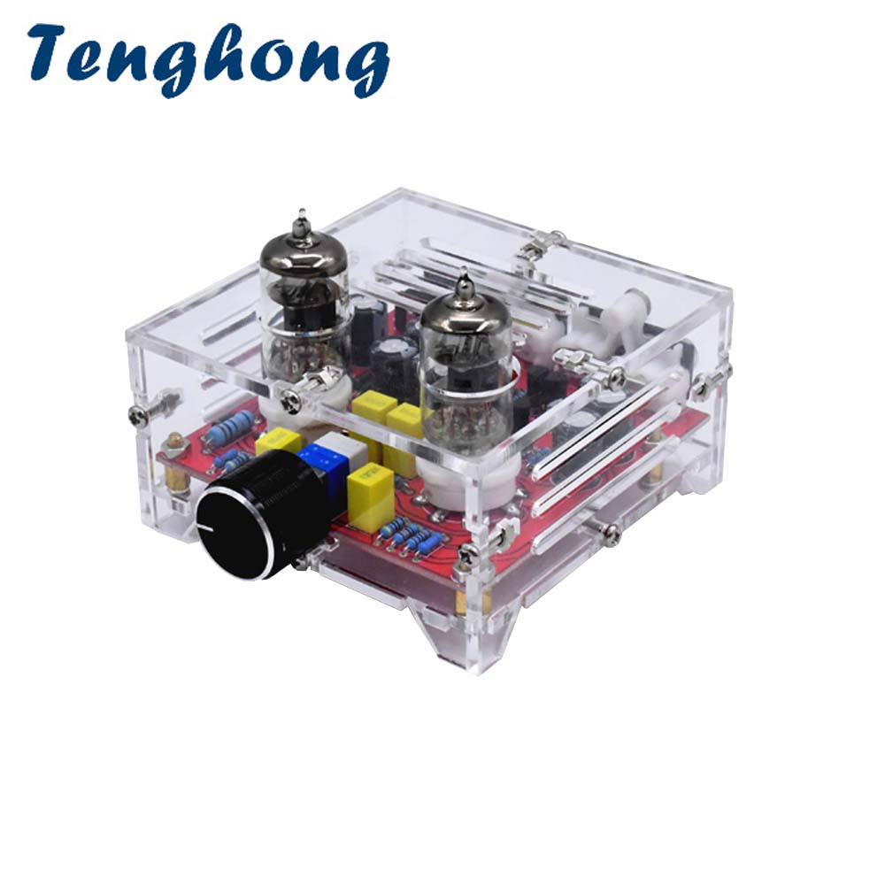 Tenghong 6J1 Tube Amplifier Preamp Board Fever Level Dual Channel Class A Tone Hifi Preamplifier Boards With Cryst Finish Board image