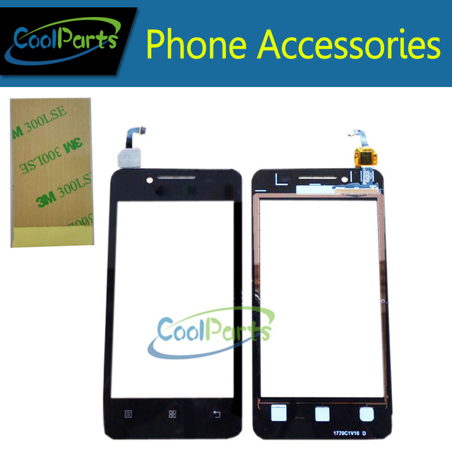 1PC/Lot Black And White Color For Lenovo a319 Touch Screen Digitizer Touch Glass and 3M Adhesive Tape Replacement Part