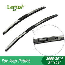 1 set Wiper blades for Jeep Patriot (2008-2014),21+21,car wiper,3 Section Rubber, windscreen, Car accessory