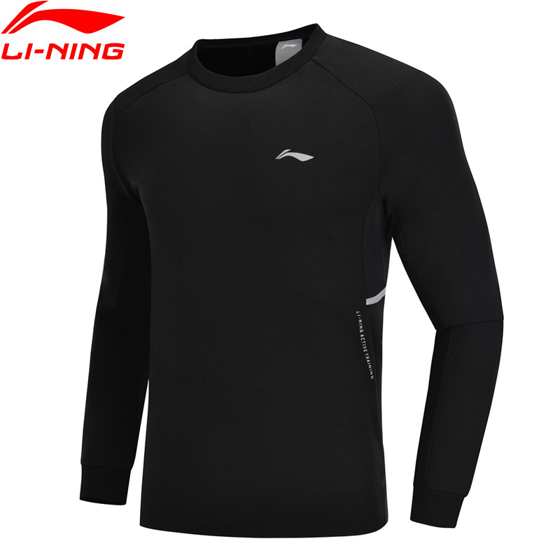 Li-Ning Men Training Series Sweater Polyester Cotton Comfort Regular Fit Hoodie LiNing Li Ning Sports Tops AWDN349 MWW1409