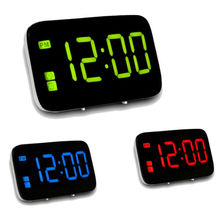 2019 New Digital Alarm Clock with Snooze Large LED Display Battery Powered Voice Control