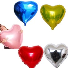 75cm Heart Shape Aluminum Inflatable Foil Helium Balloons for Happy Birthday Wedding Valentines Party Decorations Accessories
