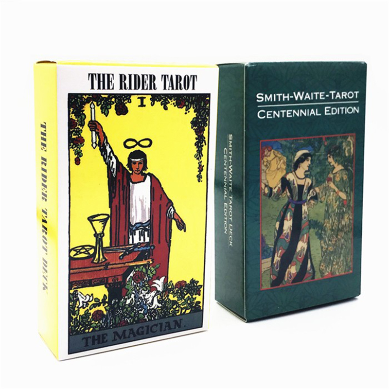 English Radiant Rider Wait Tarot Cards Smith Tarot Deck Board Game Mysterious Divination Fate Tapo Cards Game