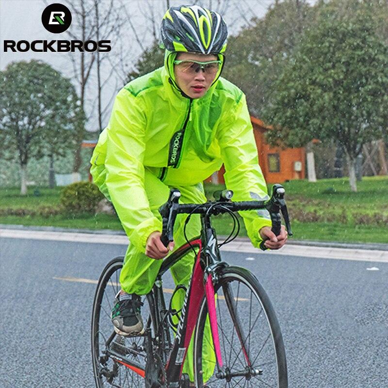 ROCKBROS водостойкий кроссовтрикотаж Велоспорт плащ дышащий анти-пот MTB езда на велосипеде Мужская велосипедная одежда