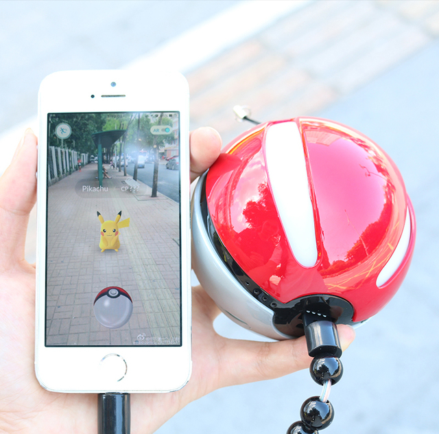 Poke Ball Powerbank PKM Go Ball I Power Bank Magic Ball Charger USB Charger USB Port for all Mobile Phone