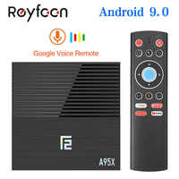 Android 9.0 Smart TV Box A95X F2 4GB 64GB Amlogic S905X2 prise en charge double Wifi 1080p 4K 60fps Google Player Netflix Youtube Media 32