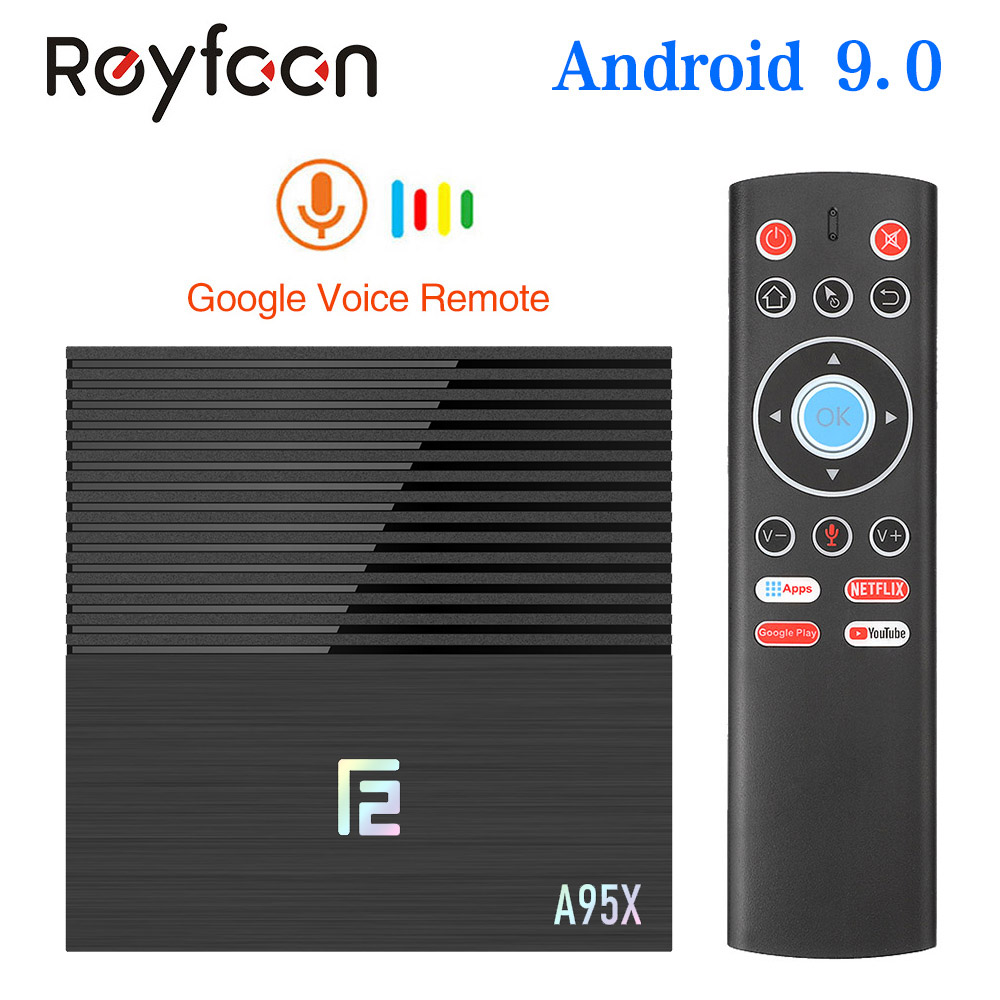 Android 9.0 Smart TV Box A95X F2 4GB 64GB Amlogic S905X2 prend en charge le double Wifi 1080p 4K 60fps Google Player Netflix Youtube Media