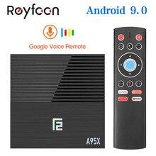 Android 9.0 Smart TV Box A95X F2 4GB 64GB Amlogic S905X2 Sup
