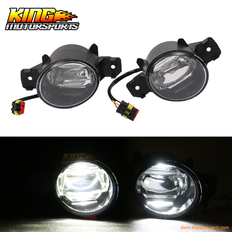 Fit For Nissan Front LED Fog Light Lamp LH RH Pair ABS Black Housing Clear Lens 1 pair lh