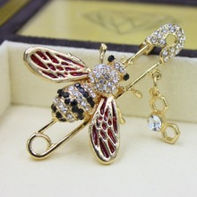 Bee Pins Brooches For Women Accessories Gifts Enamel Pins Enamel Brooch Lovely Pin Up Vintage Karl Jewelry Lapel Pin Baby Hat