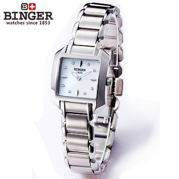 Binger small dial quartz stainless steel precision Business font b Military b font font b watch