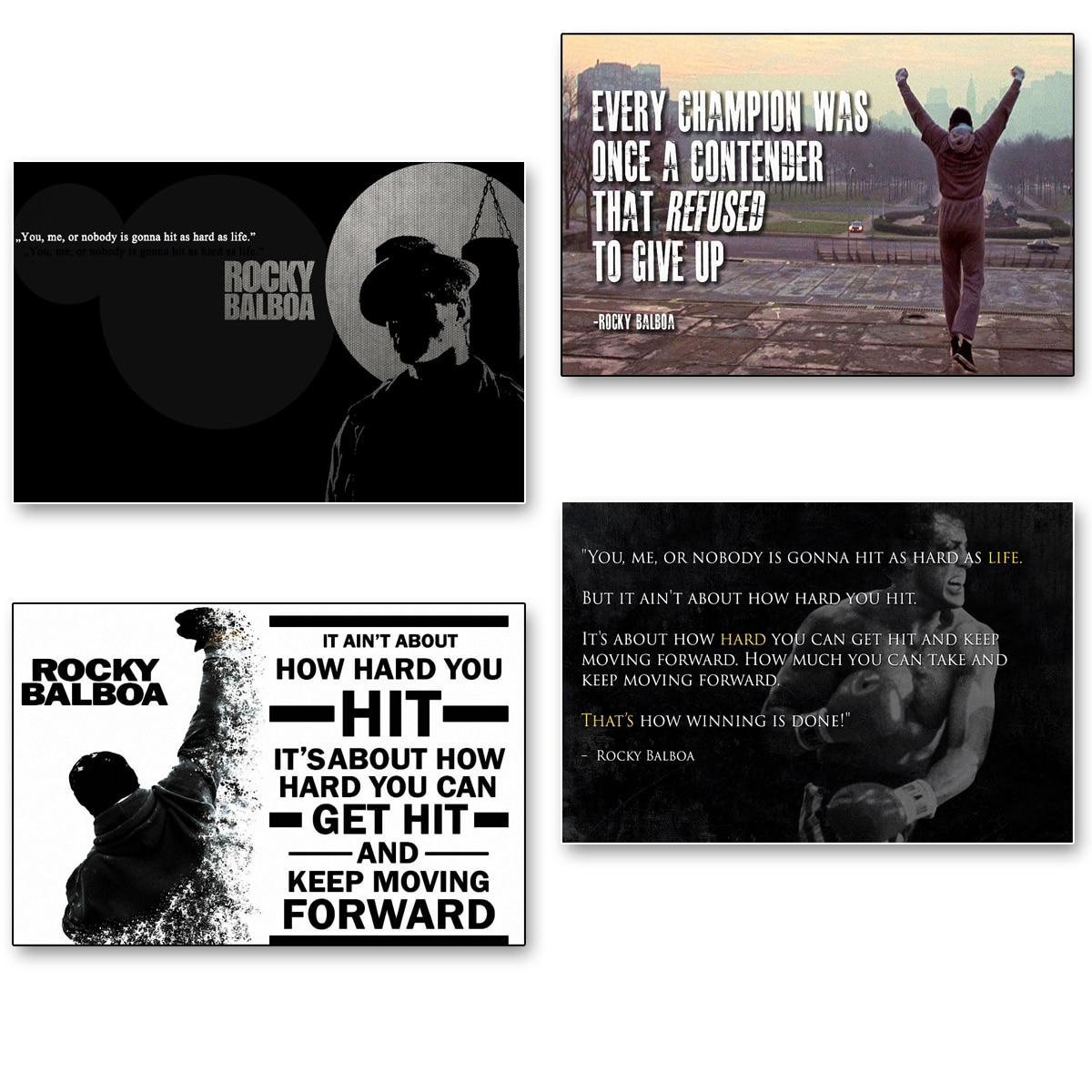 Inspirational Quotes Motivation: DIY Frame Rocky Balboa Movie Motivational Inspirational