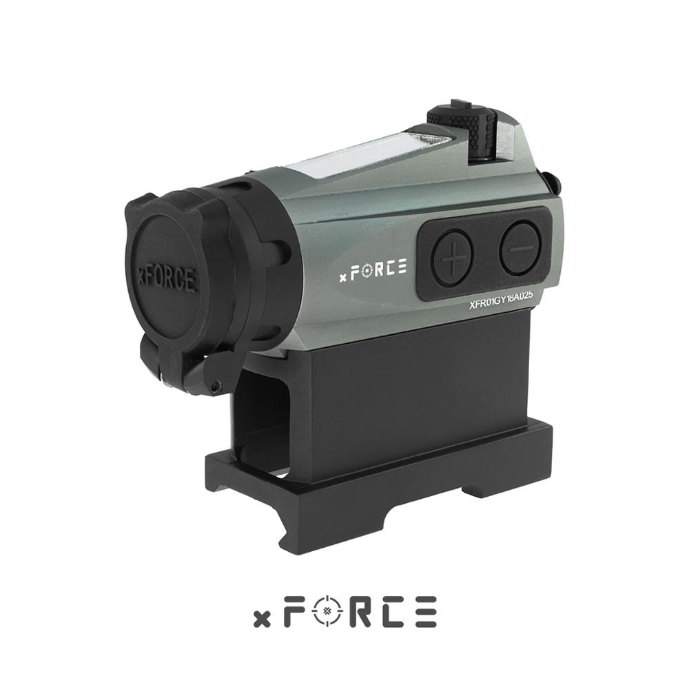 XFORCE XTSP Solar Red Dot Sight With QD Mount & Killflash / Kill Flash Buy One Get One FREE Offset Rail Mount(Black)
