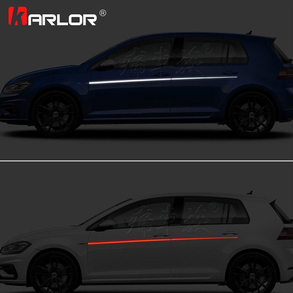 2Pcs/lot Car Waist Both Sides Skirt Decoration Stickers Decals Vinyl Reflective For Volkswagen Golf 7 2018 Auto Car Accessories