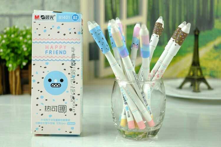 1 Psc office stationery gel pen erasable pen, erasable gel pen three color choice 0.5 learning essential 2pcs lot baile pilot lkfb 60ef three color multifunctional erasable pen 0 5mm