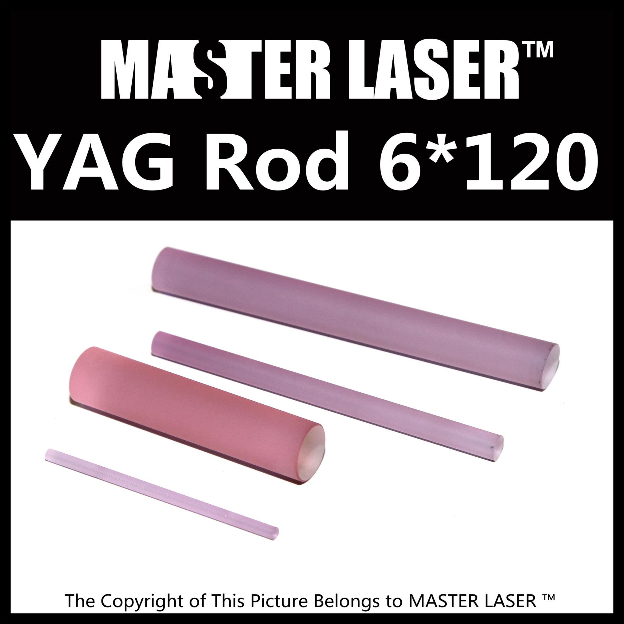 Good Quality Laser Welding Machine 1064nm nd: Yag Rod 6mm Dia 120mm Length nd: Yag Laser Rod 532nm nd yag laser head probe tip for sale