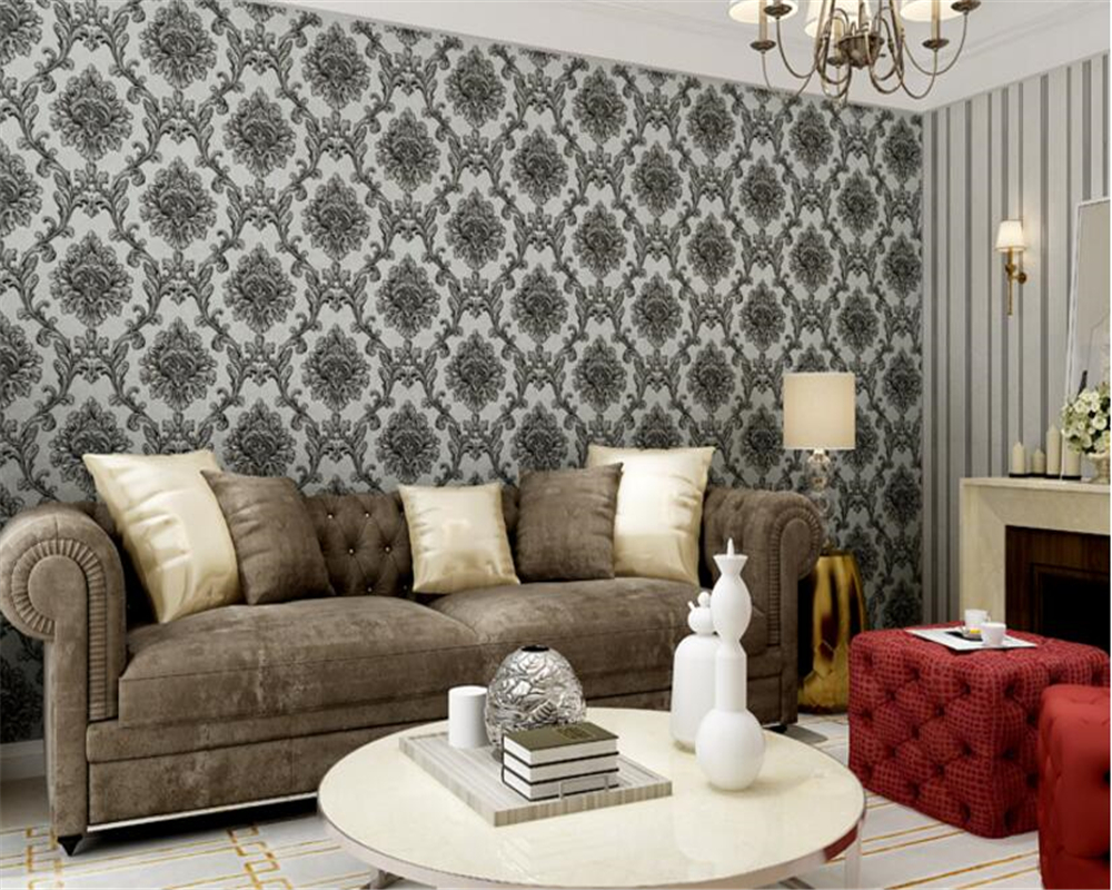 beibehang papel de parede European luxury PVC gold craft wallpaper bedroom living room TV background wall full shop 3d wallpaper beibehang vertical striped embroidery diamond in the mediterranean bedroom living room wallpaper tv wall papel de parede
