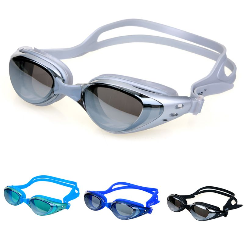 Male Female Electroplating Goggles Swim Glasses Sport Adjustable Adult Swimming Frame Pool Eyeglasses Waterproof Spectacles