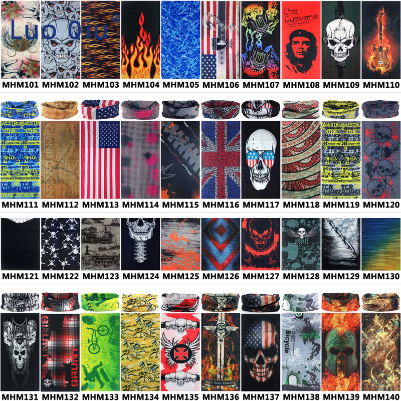 40Colors Unisex Cycling Print Bandana Neck Warm Scarf Motorcycle Outdoor Climbing Fishing Hiking Hiking Face Mask Magic Scarves
