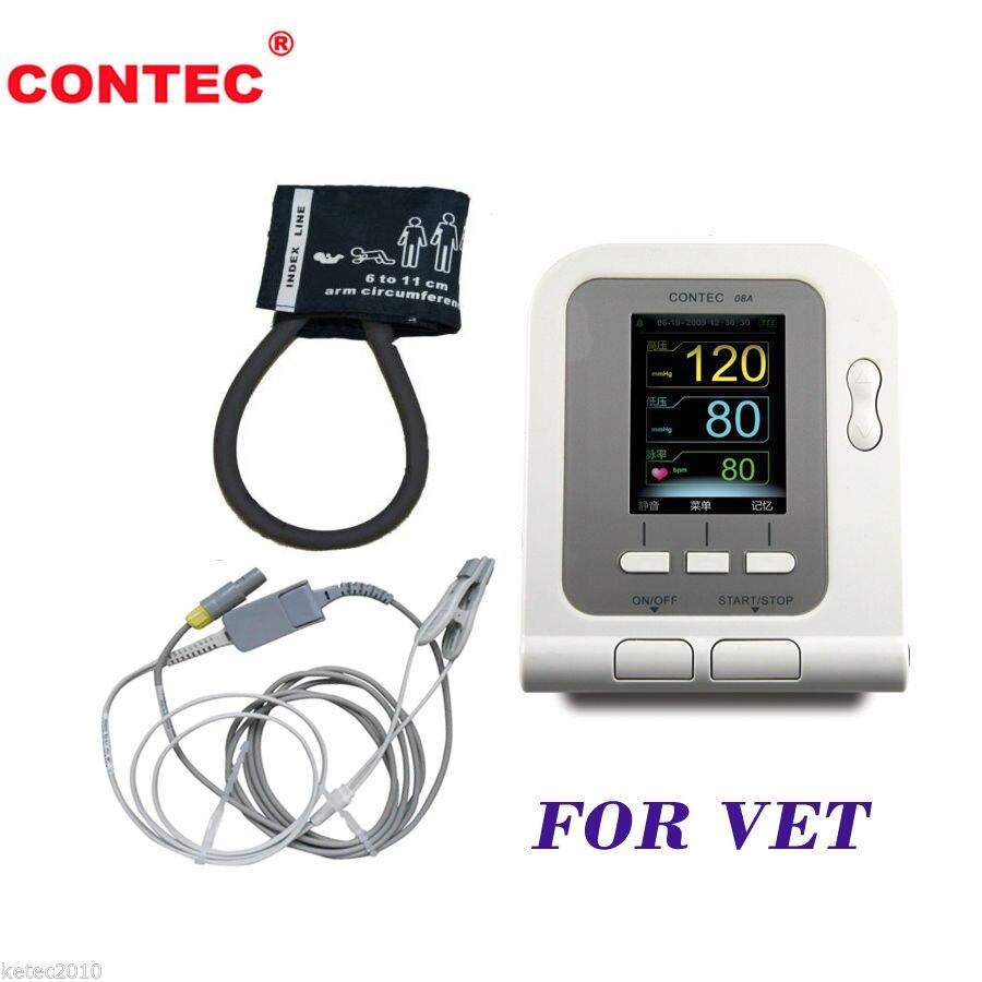 Numérique Vétérinaire PNI Moniteur de Pression Artérielle avec SPO2 Sonde (option) pour VÉTÉRINAIRE CONTEC08A