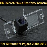 PAL HD 960 576 Pixels Parking Rear View Camera For Mitsubishi Pajero 2009 2010 2011 2012