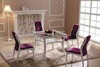 Современные деревянные фланель столовая стул высокое качество фланель практичная мебель высокого качества спинка гостиная стулья