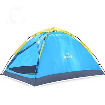 Outdoor 2 Person Single-layer Rainproof Hiking Fishing Tent Quick Automatic Camping Tent