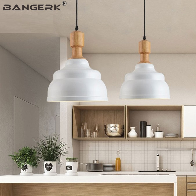 Nordic Loft Light Modern LED Pendant Lamp Wood Iron Black Hanging Lamps Industrial Wind Home Decor Dining Room Lights Pendant nordic modern 6 arm pendant light creative stainless steel hanging lamps lifting rod foliving room dining room lamp home decor