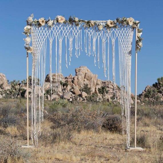 Macramae Ideas Wedding Arch: 180cm X 210cm Macrame Wedding Arch, Boho Wedding, Macrame
