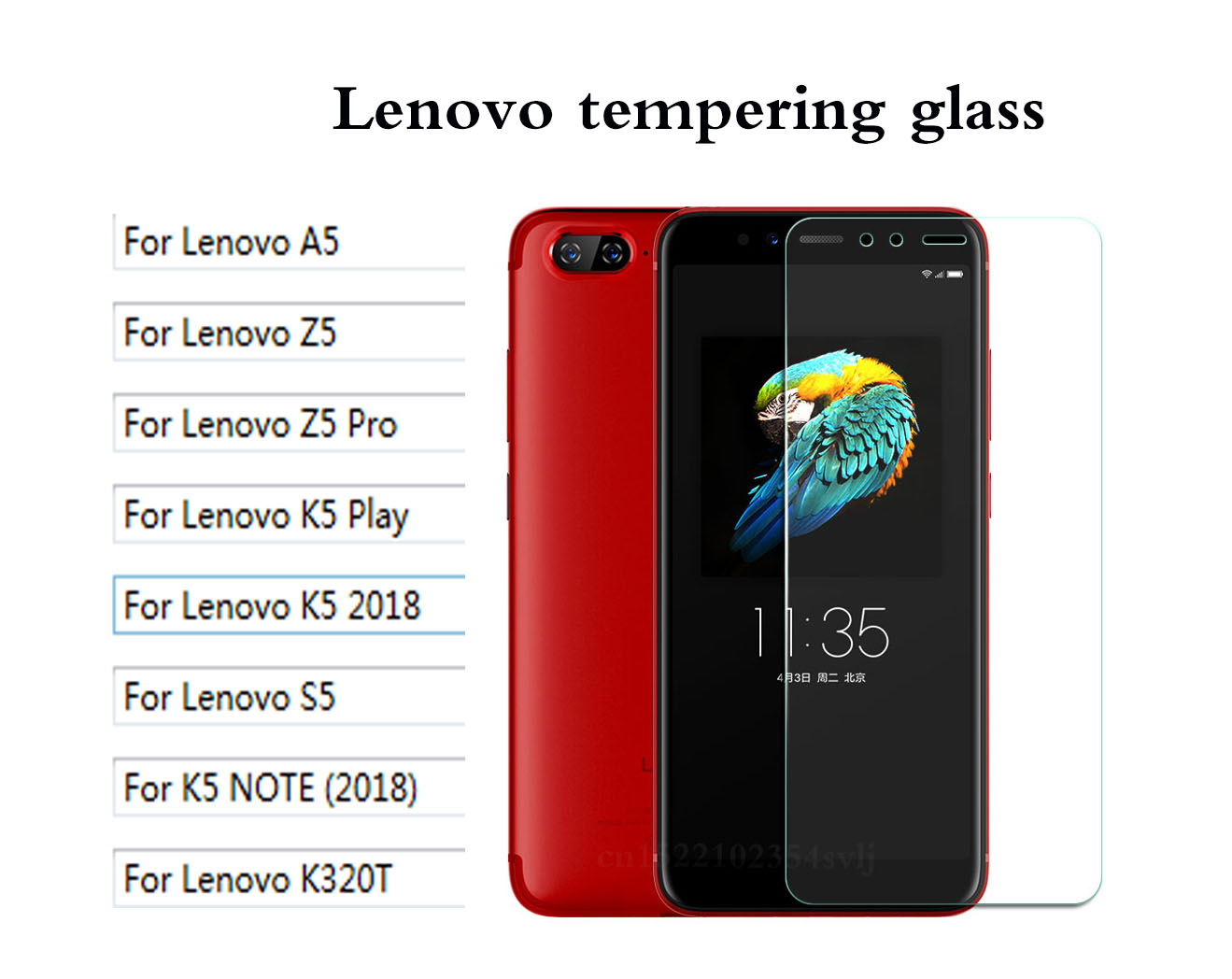 Tempered Glass For Lenovo A5 K320t S5 Z5 Pro K5 Play K5 2018 NOTE (2018) Explosion-proof Protective Film Screen Protector >
