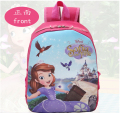 Pink Lovely Cartoon Princess Sofia the first Girls School bags Children Kids Backpack book bag