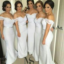 2016 Elegant Bridesmaid Dresses V Neck Lacce Sashes Mermaid Satin Floor-Length Vestido De Festa Robe Demoiselle D'honneur