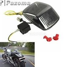 Мотоциклов 12В дым светодиодный фонарь светильник задний стоп-светильник указатель поворота для мотоцикла Harley двойка со всего мира V-ROD 2002-2011