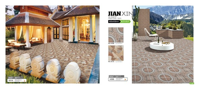 3D Inkjet Glazed Rustic Stone Imitation Texture Exterior/Interior Porcelain  Tiles For Floor
