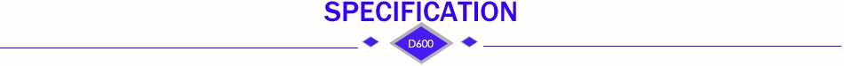 SPECIFICATION 2-D600
