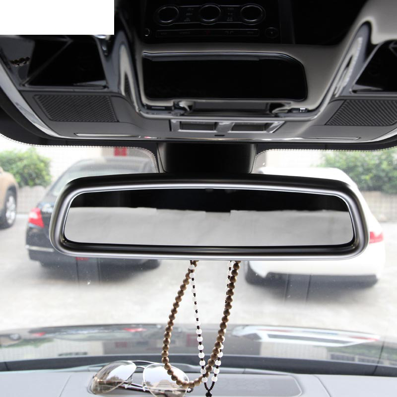 ABS Chrome Interior Rearview Mirror Cover Trim For Land