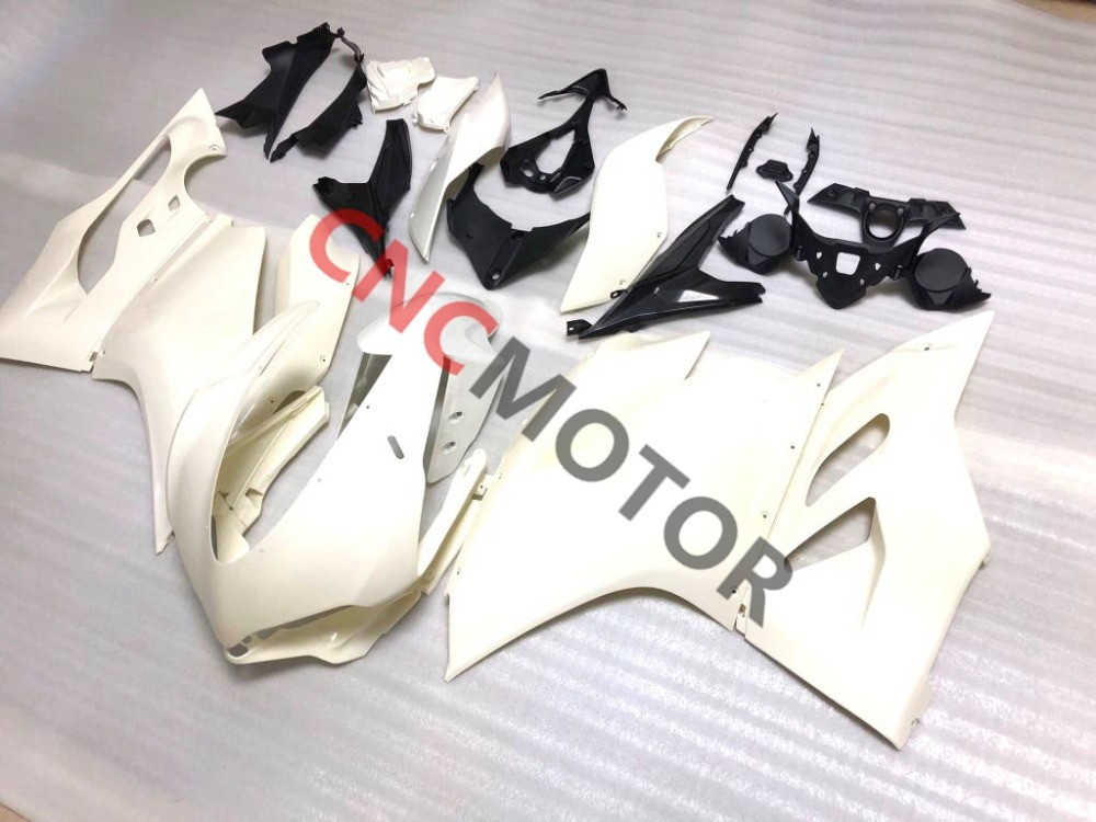 ABS Unpainted Injection Motorcycle Bodywork Fairing Kit For Ducati 959 1299 high match injection mold fit for ducati 03 04 749 999 2003 2004 bodywork fairing kit brand logo decal 4 free gifts