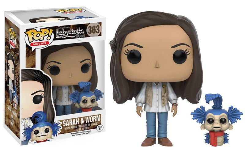 Funko pop Official Movies: Labyrinth - Sarah and Worm Vinyl Action Figure Collectible Model Toy with Original Box exclusive glow in the dark 6 original funko pop resident tyrant official vinyl action figure collectible model toy in stock