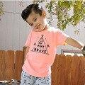 Bebés y Niños camiseta de Algodón Bobo Choses Verano Muchachos de Las Muchachas de dibujos animados Camisetas 2017 Nuevas Llegadas de Manga Corta Tes de las Tapas de Los Niños camiseta