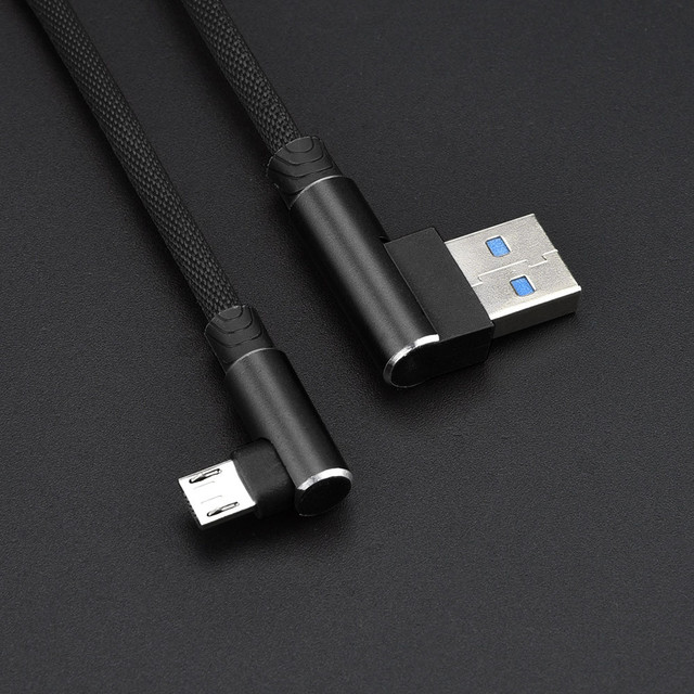 2019 100 brand new and high quality 1M 90 Degree Angled L Shape V8 USB 2