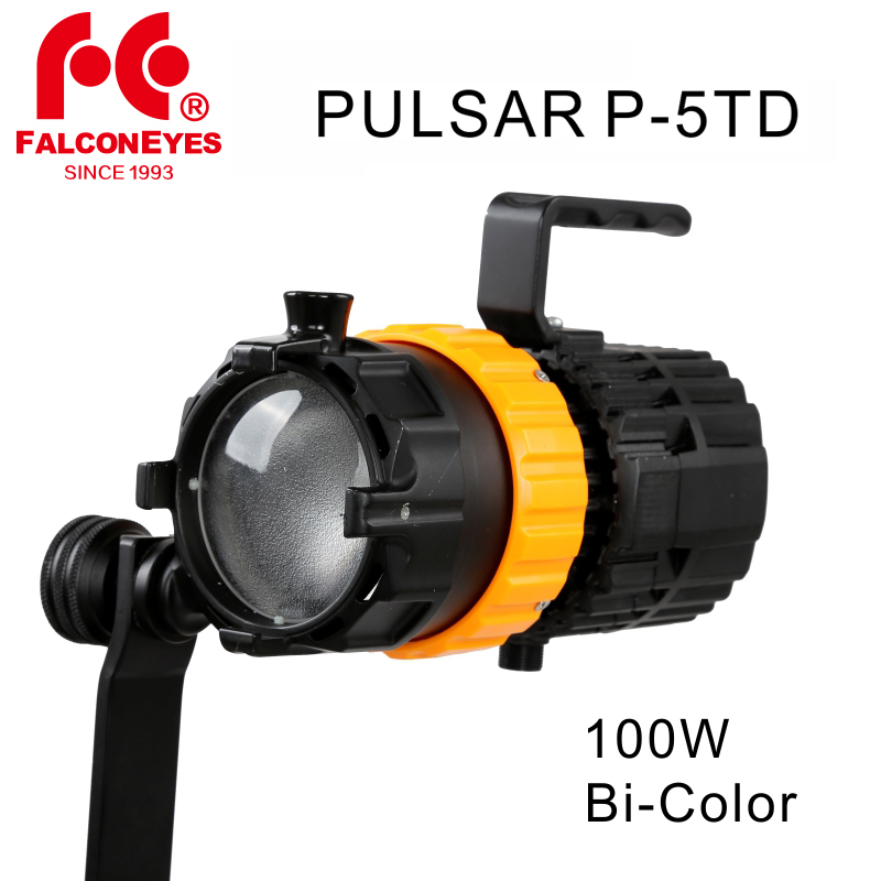 Falcon Eyes 100W Pulsar 5 P 5TD Mini Spot Light 3000K 5600K Photography Light Adjustable Focus