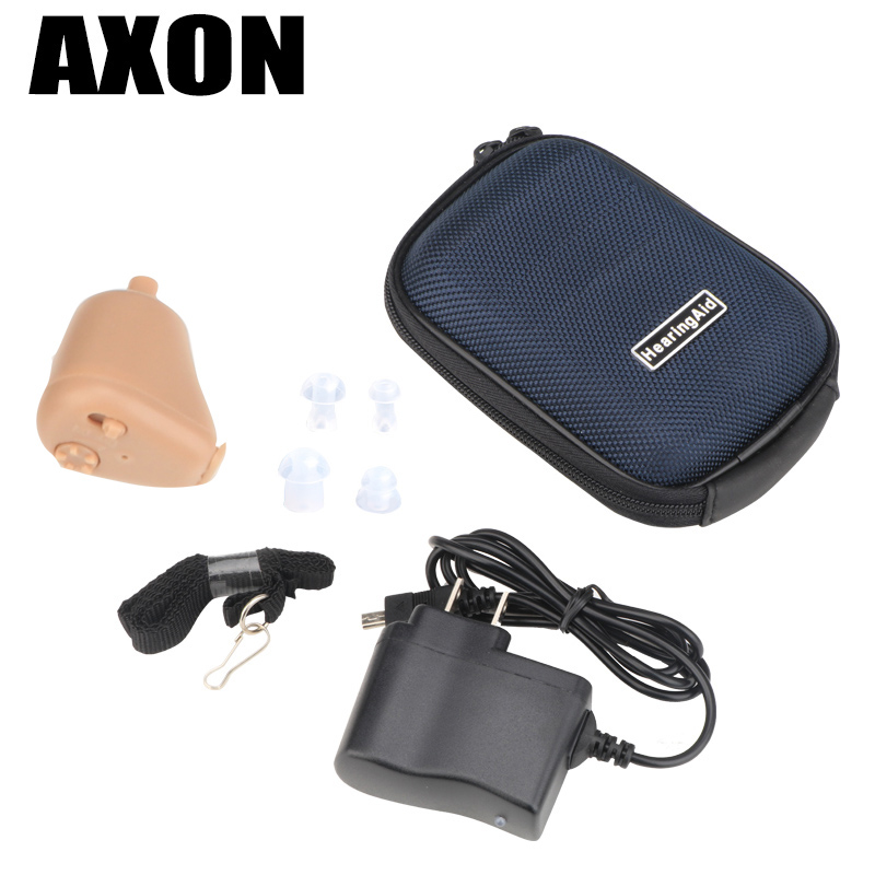 AXON Hearing Aids Ear Aid Sounds Amplifier Mini Rechargeable In Ear Invisible K-88 Audiphone Hear Clear for the Elderly Deaf new rechareable mini invisible ite k 88