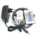 Não impermeável LED Strip 300 leds 5 m 2835 rgb LED 24 teclas controlador + adaptador de alimentação 12v2a ue eua PLUG ua