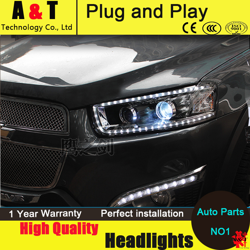 Car Styling LED Head Lamp for Chevrolet Captiva headlight assembly 2008-2014 Captiva led headlight led drl H7 with hid kit 2pcs. car styling head lamp for bmw e84 x1 led headlight assembly 2009 2014 e84 led drl h7 with hid kit 2 pcs