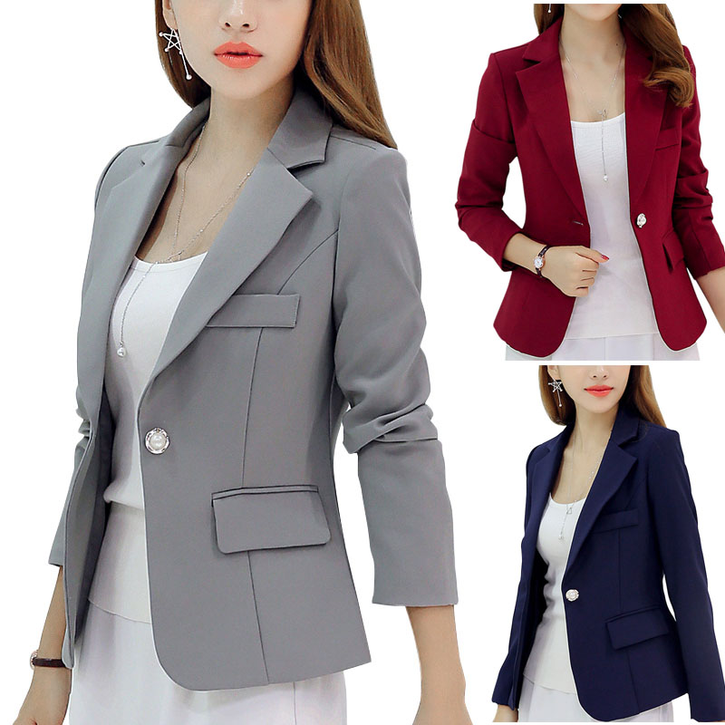 Hot Sale Women Slim Tailored Suit Wear To Work Suit Jacket Coat
