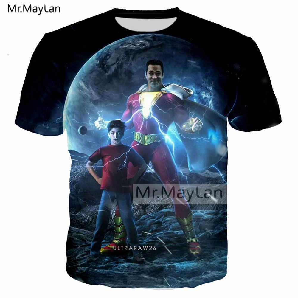 d21045ba ... 2019 Newest DC Movie Shazam ! Print 3D Streetwear Tshirts Men/women Hip  Hop Punk