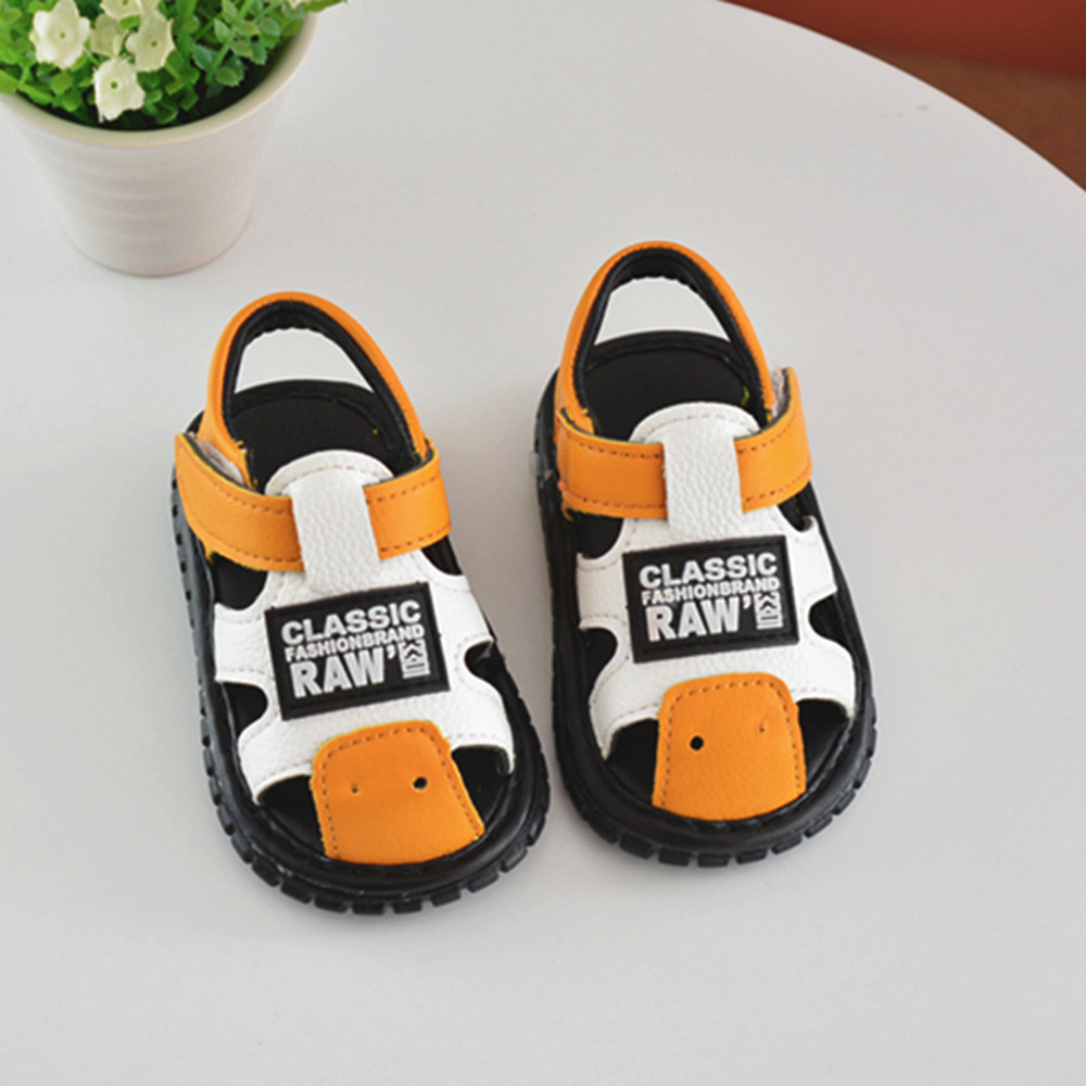 Newborn Infant Baby Boys Girls Shoes Letter Anti-slip first walkers shoes Soft Sole Squeaky Single Sneaker #xqx