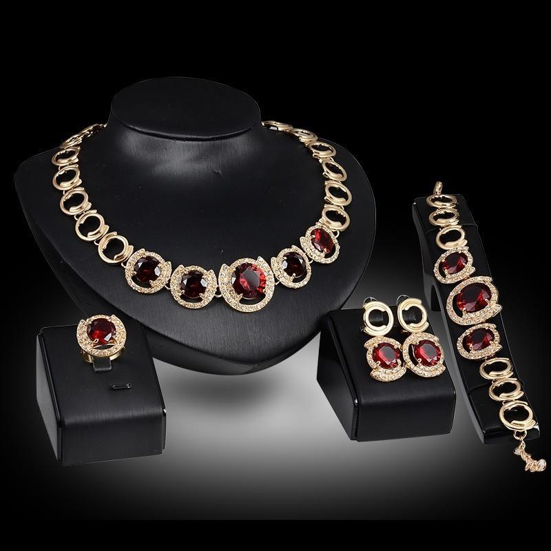 Fashion Chain Necklace Earring Bracelet for Wedding