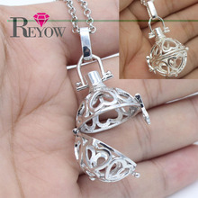 Free Shipping Lots 5PCS Hollow Heart Cage Locket Openable Pendant Necklace For Aromatherapy Essential Oil Diffuser Jewelry